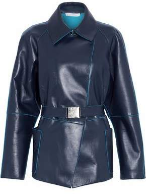 Versace Belted Leather Jacket