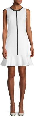 Karl Lagerfeld Women's Flounce Sheath Dress