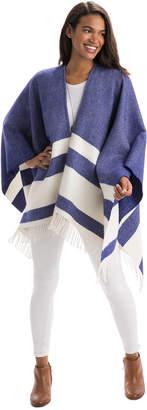 Vineyard Vines Stripe Print Wool Cape