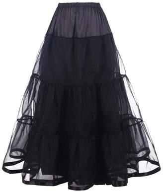 APXPF Women's Floor Length Bridal Wedding Petticoats Formal Dress Slips (Small/Medium, )