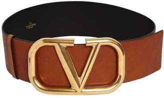 Valentino 70mm Go Logo Leather Belt