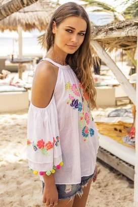 Miss June Floral Top Capri