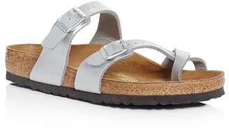Birkenstock Women's Mayari Metallic Buckled Slide Sandals $90 thestylecure.com