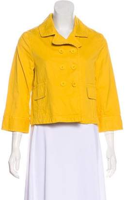 Nili Lotan Double-Breasted Crop Jacket
