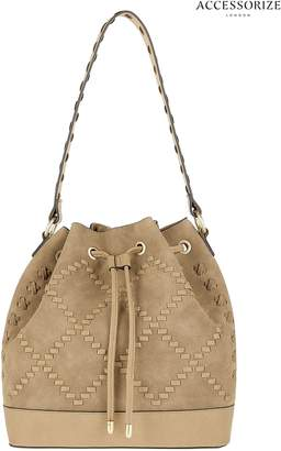 Next Womens Accessorize Tan Whipstitch Duffle Bag
