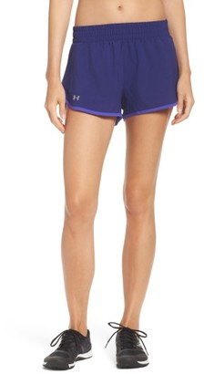 Women's Under Armour Launch Tulip Running Shorts $34.99 thestylecure.com