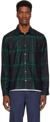 Paul Smith Green and Blue Tartan Work Shirt