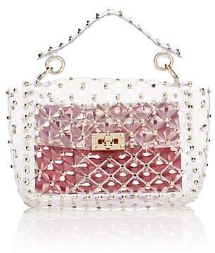 Valentino Women's Rockstud Spike. It Medium PVC Shoulder Bag