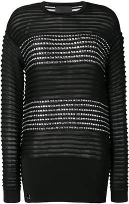 Philipp Plein stripe detailed jumper
