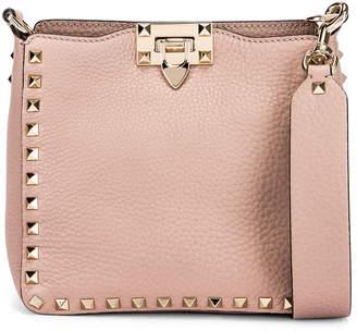 Valentino Mini Rockstud Hobo Bag in Poudre   FWRD