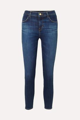 J Brand Alana Cropped High-rise Skinny Jeans - Dark denim