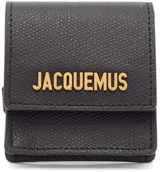 Jacquemus Grained Leather Coin Purse Bracelet - Womens - Black