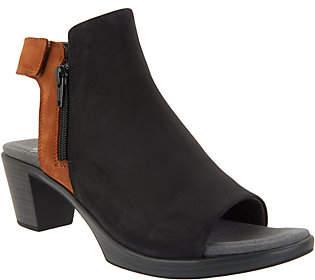 Naot Footwear Leather Colorblock Heeled Sandals- Favorite
