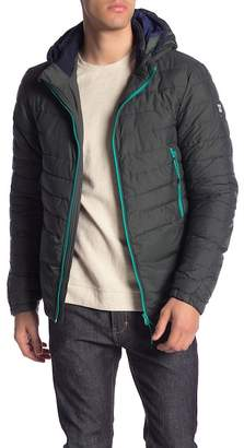 Scotch & Soda Quilted Jacket w\u002F Detachable Hoodie