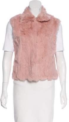 Adrienne Landau Pink Fur Vest w/ Tags