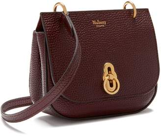 At Mulberry Mini Amberley Satchel Oxblood Natural Grain Leather