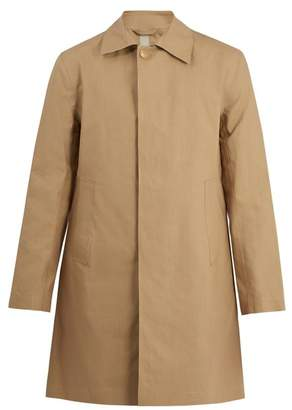Kilgour Bonded Cotton Water Resistant Overcoat - Mens - Beige