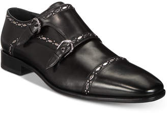 Roberto Cavalli Men's Cap Toe Double-Buckle Monk Strap Loafers Men's Shoes