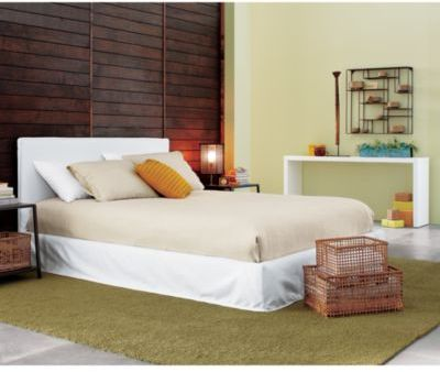 Stratus white slipcovered bed
