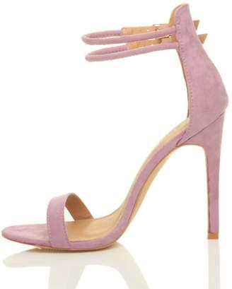 Nansay Women's Shoes Customize Cover Heel Sandals Big Size Stiletto High Heel Buckle Strap Peep Toe Pumps Suede US