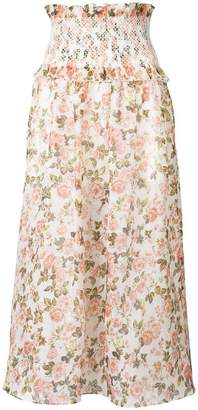 Zimmermann floral ruched skirt