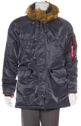 Alpha Industries Public School x Faux Fur- Lined Coat