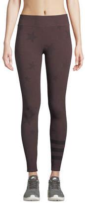 Sundry Star-Print Striped Yoga Pants