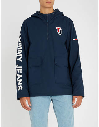 Tommy Jeans Logo-print cotton hooded jacket