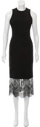 Cinq à Sept Guipure Lace-Accented Sheath Dress