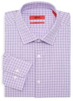 HUGO BOSS Check Cotton Casual Button-Down Shirt