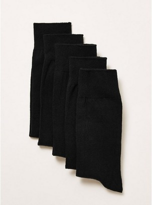 Topman Mens Black Socks 5 Pack