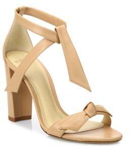 Alexandre Birman Clarita Leather Block Heel Sandals $595 thestylecure.com