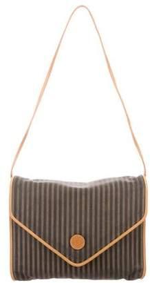 Fendi Leather-Trimmed Pequin Bag