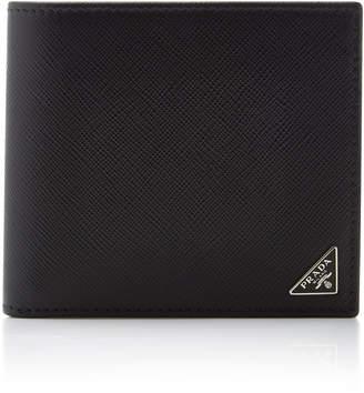 Prada Textured-Leather Billfold Wallet