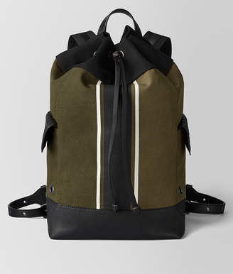 Bottega Veneta MUSTARD/NERO CANVAS BACKPACK