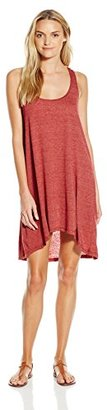 Lucky Brand Women's Natural Fever High-Low Cover Up Dress with Crochet Back $37.99 thestylecure.com