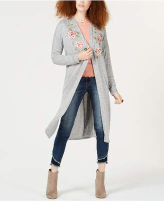 American Rag Juniors' Embroidered Duster Cardigan, Created for Macy's