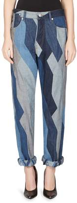 Dries Van Noten Women's Slouchy Patchwork Jeans - Blue, Size 28 (4-6)
