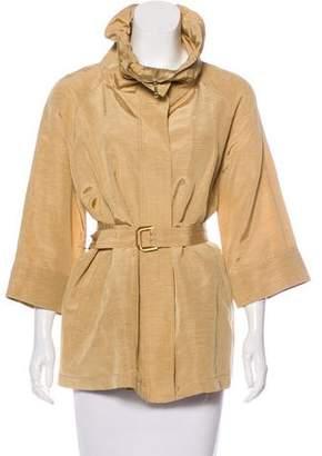 Lafayette 148 Linen-Blend Belted Jacket