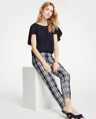 Ann Taylor The Petite Crop Pant In Plaid - Curvy Fit
