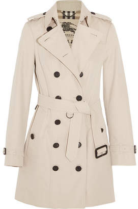 Burberry - The Sandringham Mid Cotton-gabardine Trench Coat - Beige $1,795 thestylecure.com