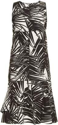Marc Jacobs Palm-print sleeveless cotton-poplin dress