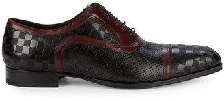 Mezlan Checkerboard Leather Oxfords