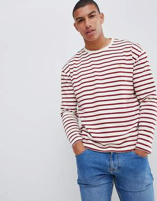 Farah Bain stripe long sleeve t-shirt in red