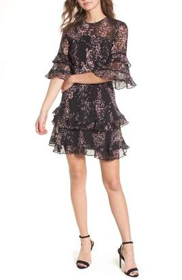 Keepsake the Label Light Up Ruffle Minidress