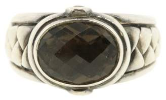 Scott Kay 925 Sterling Silver & Smokey Quartz Ring Size 9