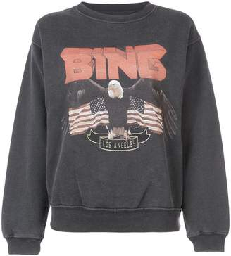 Anine Bing logo patch sweatshirt
