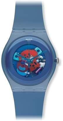 Swatch Unisex SUON102 Quartz Plastic Skeletal Dial Watch