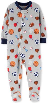 Carter's Baby Boys Sports-Print Footed Pajamas