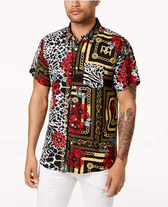 Reason Men's Multi-Pattern Shirt